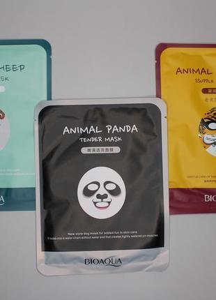 Тканевая маска для лица animal mask bioaqua, 30 г