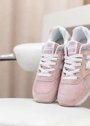 👟 женские кроссовки new balance 574 розовые / наложенный платёж 👟