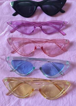 Стильные очки разных цветов