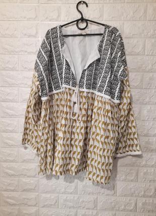 Накидка фирменная, рубашка на завязке