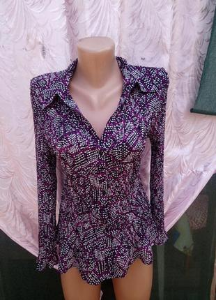 Блуза в горошек