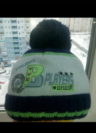 Зимняя теплая шапка для мальчика barbaras 48-50р.