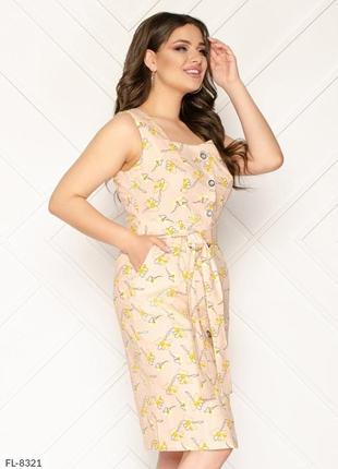Платье в расцветках р 50-54