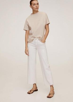 Белые джинсы кюлоты от mango zara