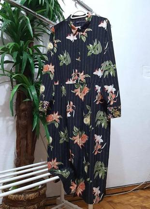 Стильное модное трендовое платье в цветочный принт большого размера 16