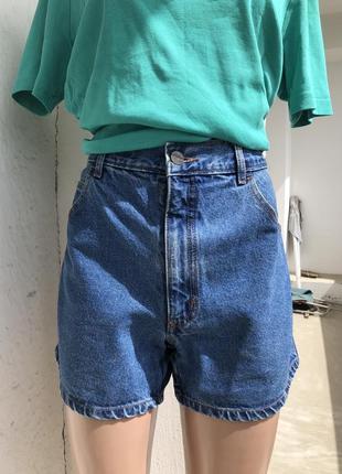 Джинсовые шорты, шорты  из плотного грубого джинса, мом джинс шорты момы момсы
