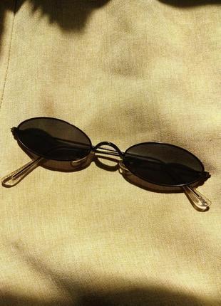 Овальные ретро очки