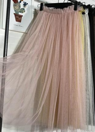 Прозрачная фатиновая юбка