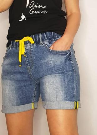 Шорты джинсовые на резинке