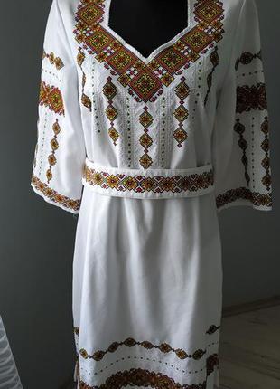 Плаття вишиванка, вишиване плаття