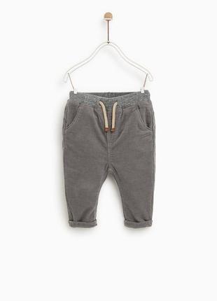 Вельветовые штаны штанишки на малыша zara