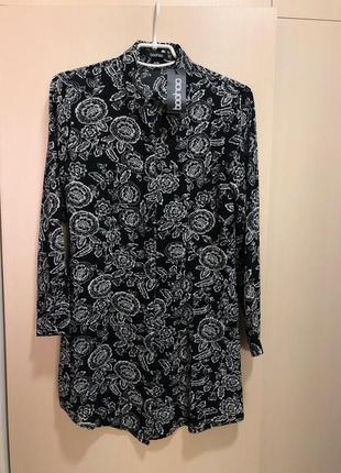 Платье рубашка boohoo, размер с, s, xs