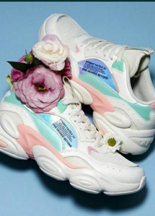 Летние белые дышащие кроссовки 361°