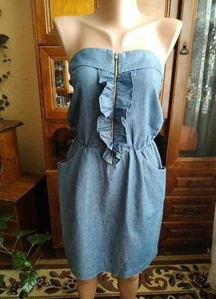 Платье бандо, sandroparis(оригинал)100%коттон,очень стильное,в идеальном состоянии.