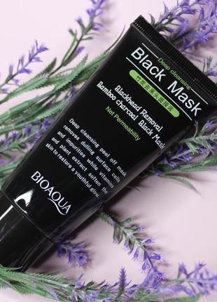 Маска-пленка от черных точек black mask bioaqua, 60 г