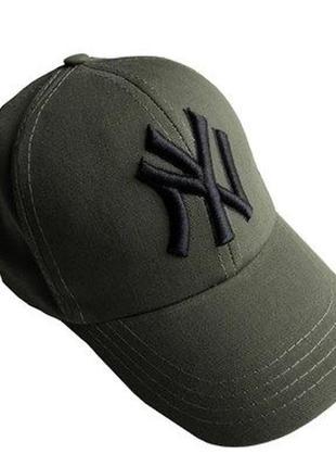 Ny кепка бейсболка унисекс хаки
