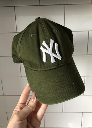 Оригинал! new era yuuth 9 forty бейсболка ny зеленая низкая подростковая