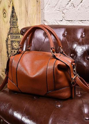 Рыжая ручная кожаная сумка