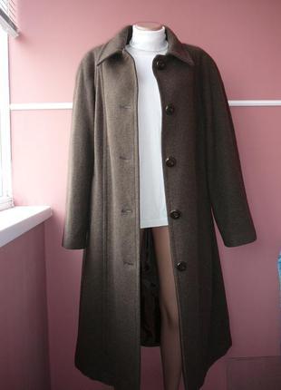 Легкое и теплое шерсть+кашемир пальто большого размера размер 16-18
