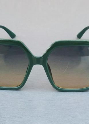 Fendi очки женские солнцезащитные большие зеленые с зелено бежевым градиентом
