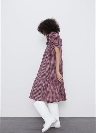 Zara платье размер с-м миди принт