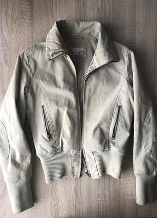 Замшевая куртка castro на флисовой подкладке цвета беж