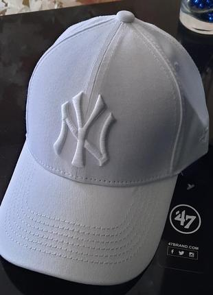 Кепка нью йорк ny new york біла белая
