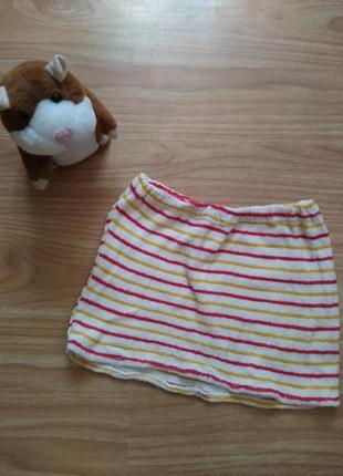 Плюшевая юбка для девочки