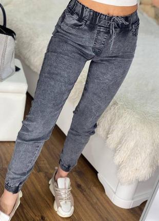 Джинсовые джоггеры, джинсы на манжете, джинсы варенки, джеггинсы варенки р 42-52