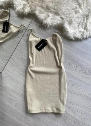 Мини платье в рубчик