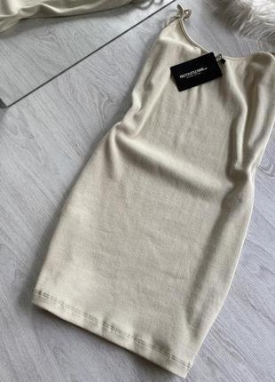 Мини платье в рубчик2 фото