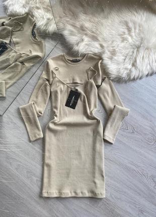 Мини платье в рубчик9 фото