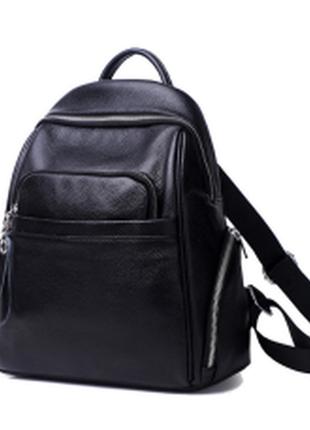 Стильный женский кожаный рюкзак городской вместительный натуральная кожа