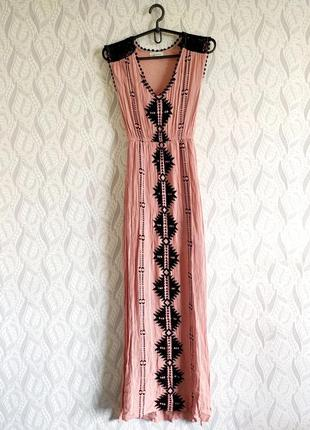 Taylor & sage натуральна сукня чайна троянда з візерунком та мереживом