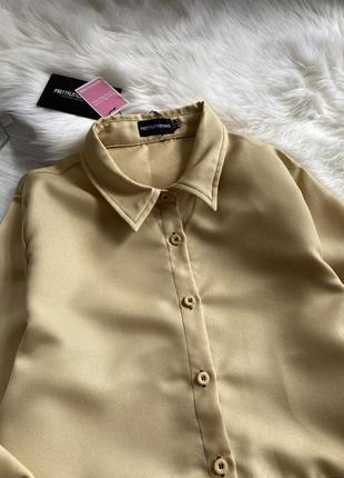 Платье рубашка горчичного цвета7 фото