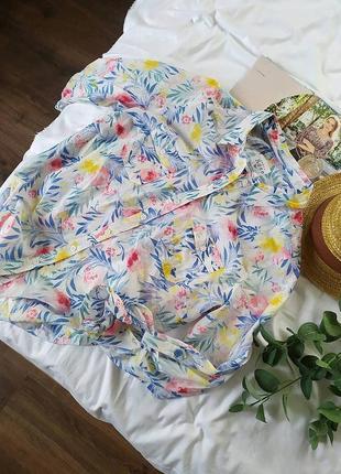 Сорочка бавовняна в квіти