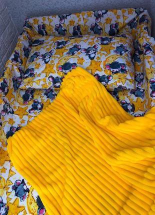 Детский комплект постельного в кроватку