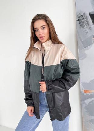 Ветровка куртка женская ветровка полоски плащевка
