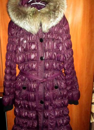 Пальто синтепон с чернобуркой