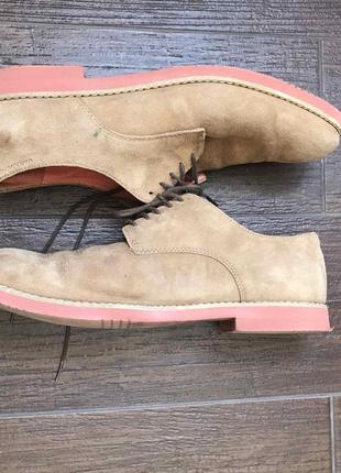 Туфли лоферы мокасины замшевые