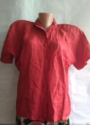 Идеальная льняная рубашка van laack 100% винтаж р.38 лакшери люкс