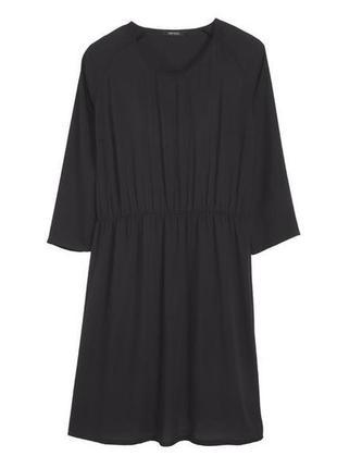 Черное платье шифон рукав 3/4 esmara