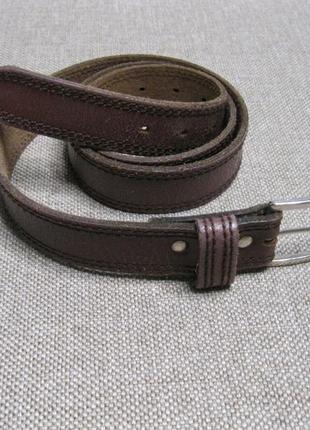 Кожаный ремень пояс  / коричневый