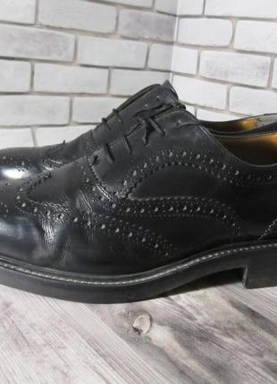 Кожаные туфли броги oliver