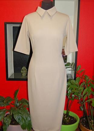💕много моделей‼ 1+1=3 🎁 бежевое миди платье большой размер