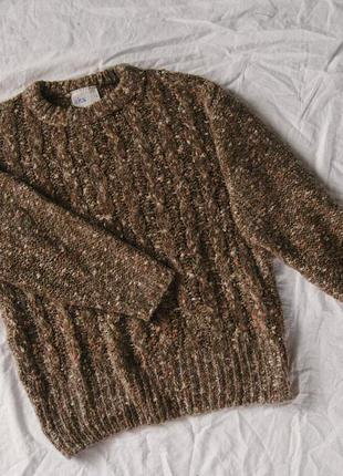 Новый шерстяной коричневый свитер bhs2