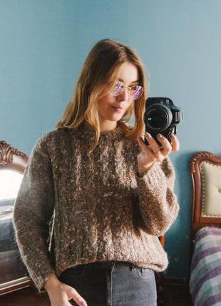 Новый шерстяной коричневый свитер bhs1