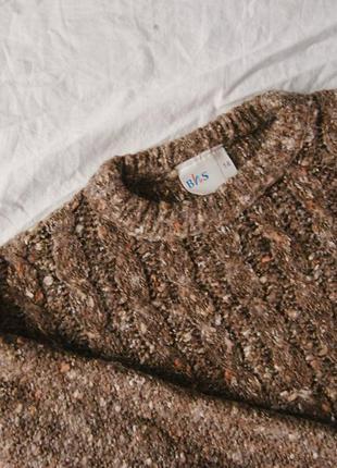 Новый шерстяной коричневый свитер bhs3