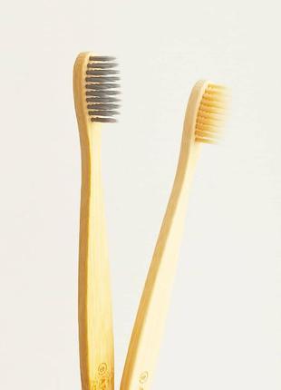 Бамбуковая зубная щетка aromatica bamboo toothbrush duo