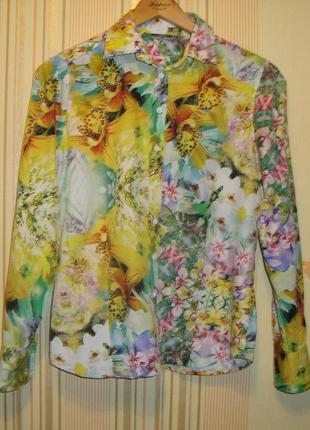 Рубашка eterna красивая расцветка хлопок качество